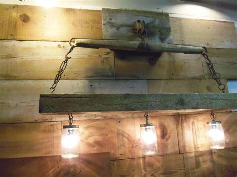 Reclaimed Lighting Fixtures Reclaimed Barn Beam And Antique Yoke Chandeliermason