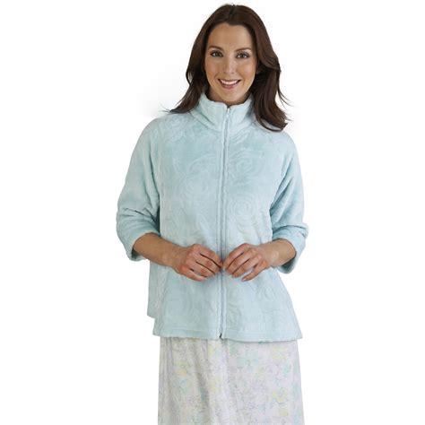 ladies bed jackets ladies zip up rose jacquard bed jacket slenderella womens
