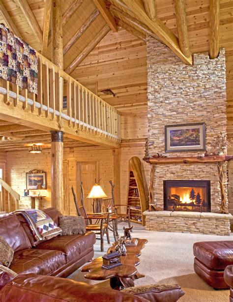 Homes With Fireplaces Log Cabin Wood Stove 171 Real Log Style