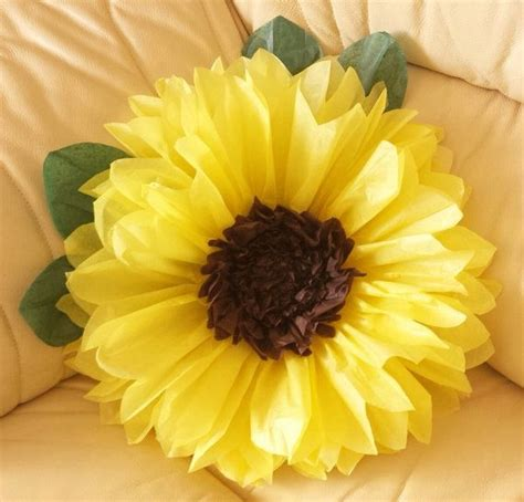 How To Make Sunflower Paper Flowers - 1000 ideas about paper sunflowers on tissue