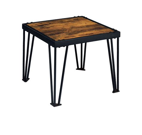 industrial style end tables furniture of america mally industrial style end table