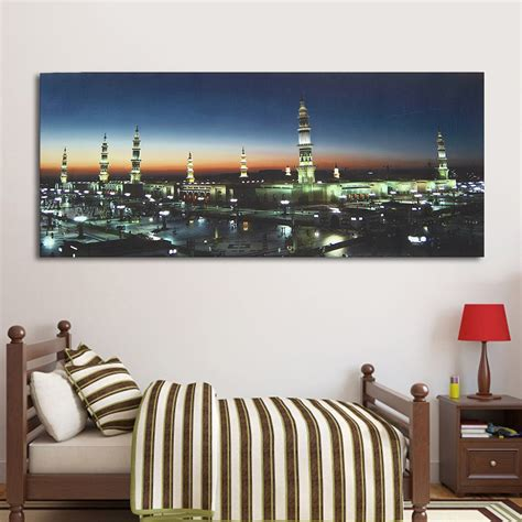 islamic home decor wall print masjid mosque islamic muslim canvas