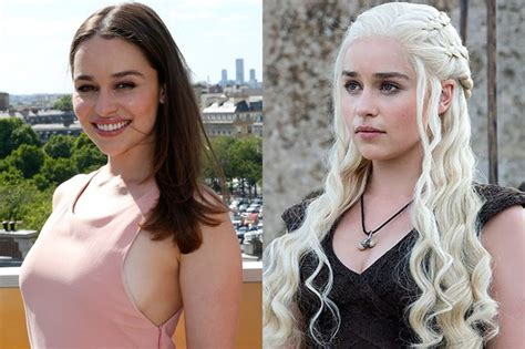 actress game of thrones khaleesi emilia clarke just dyed her hair khaleesi blonde marie