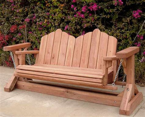 wooden bench swing redwood glider swing bench heavy duty