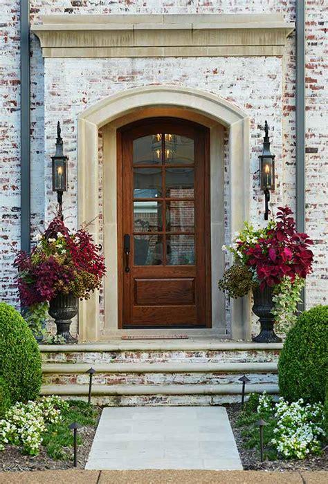 Exterior Entrance Way Ideas White Brick Door Lighting Beautiful Home
