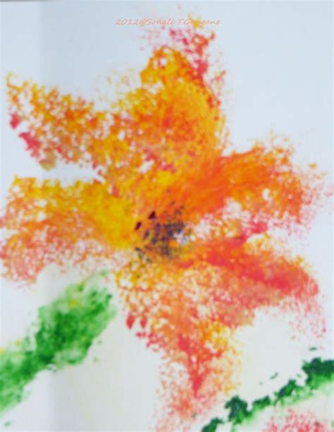 orange blossom painting by sonali gangane