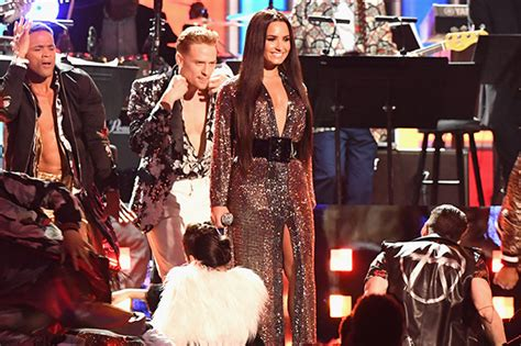 Grammy Fever Hits by Grammys 2017 Demi Lovato Goes Braless In See Through