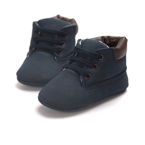 Baby Shoes Toddler Boys Girls Ankle Boots Lace Up Crib Crib Shoes For Baby Boys