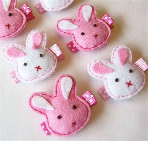Sweet Bunny Hairclip 25 best felt bunny ideas on