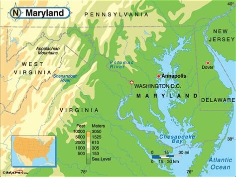 maryland map elevation map of md landforms maryland elevation map courtesy of