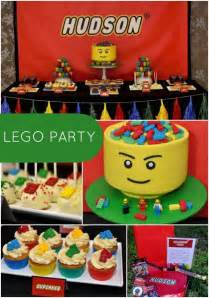 Lego Decorations by Boy S Lego Themed 5th Birthday Spaceships And