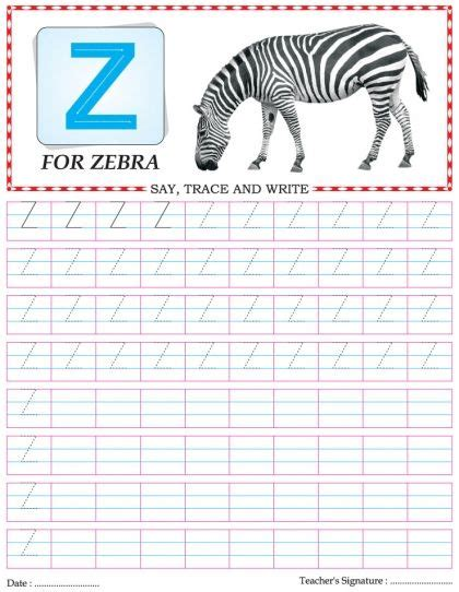 Memo Writing Exercises With Answers capital letter writing practice worksheet alphabet z