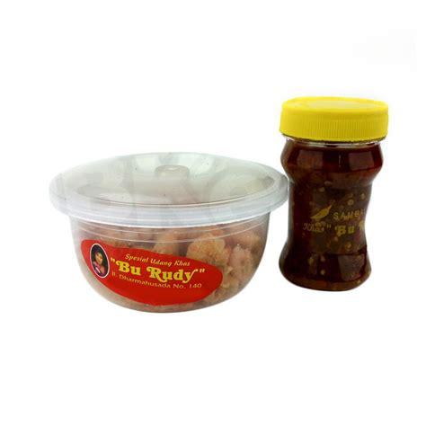Makanan Khas Bu Rudy Kode Paket Udang Kecil Sambal Ijo 3 Bajak 2 jual rekomendasi seller paket oleh oleh bu rudi surabaya