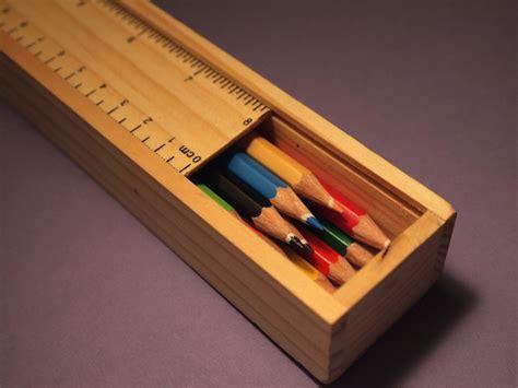 wooden pencil box le petit artist