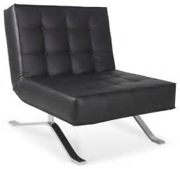 Armchair With Ottoman Set Wave One Black Lounge Chair Modern Armchairs And