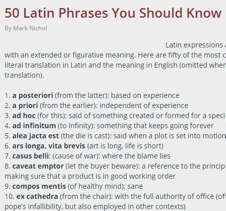 biography latin definition 50 latin phrases you should know languages pinterest