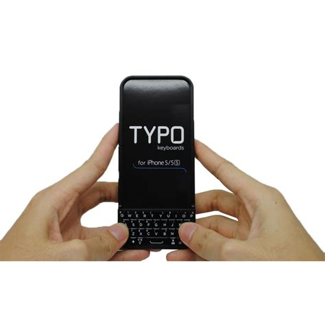 typo 2 keyboard qwerty for iphone 5 5s se black