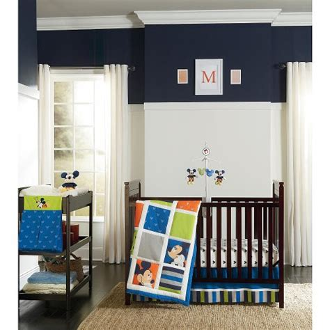 Baby Mickey Mouse Crib Set by Mickey Mouse Nursery Bedding And Decor Bedtime Baby