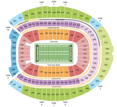 sports authority seating capacity sports authority field at mile high tickets in denver