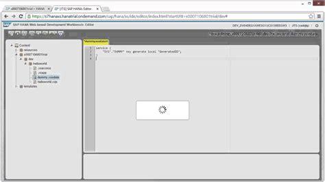 web based r sap hana academy web based development on hcp develop a
