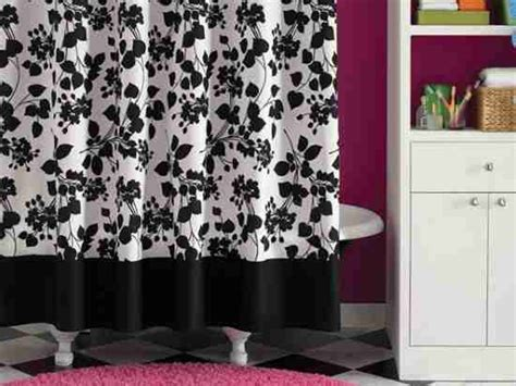 black and white floral shower curtain black and white floral shower curtain decor ideasdecor ideas