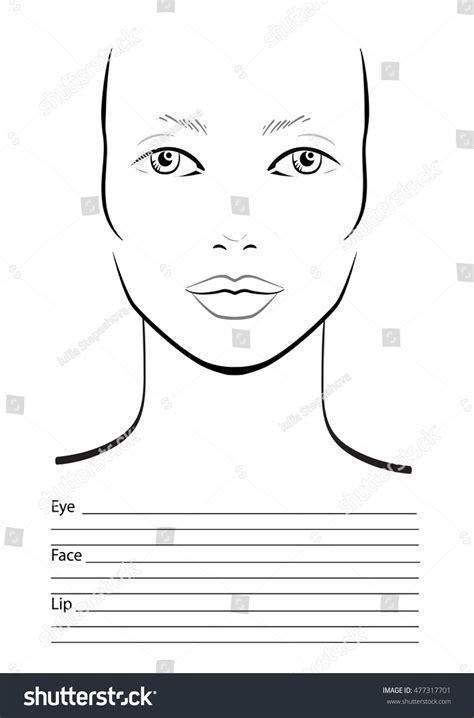 face chart makeup artist blank template stock vector art face chart makeup artist blank template stock vector