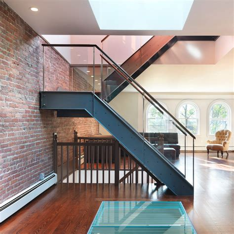 Rooftop Oasis Modern Staircase Bridgeport by Flavin Architects