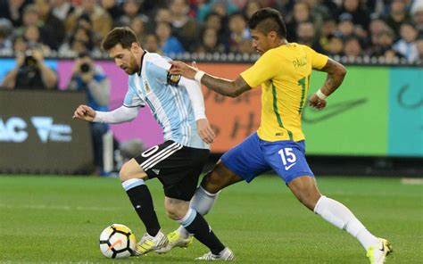 brazil vs argentina s lionel messi l fights for the with