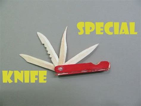 Make Paper Pocket Knife - how to make a multi functional knife with pop sticks