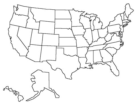 coloring activity pages united states map template