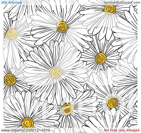 daisy background pattern vector daisy illustration clipart 73