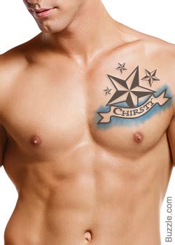 tattoo on my chest with his name in the middle 38 name tattoos on chest