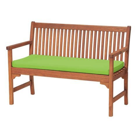two seater bench cushion gardenista 2 seater bench cushion seat pad in lime gay