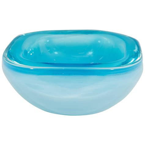 blue opaline murano glass decorative bowl at 1stdibs
