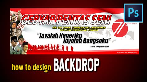 Desain Gapura 17 Agustus | tutorial design backdrop with photoshop youtube