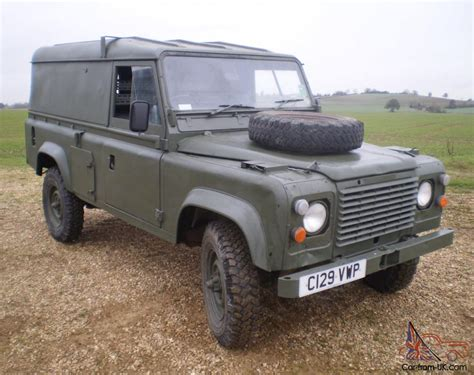 military land rover land rover military defender 110 12v 24v ffr hardtop 2 5