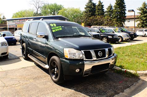 used nissan armada for sale 2007 nissan armada se green used suv