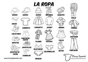 la ropa learn spanish vocabulary for the clothes print