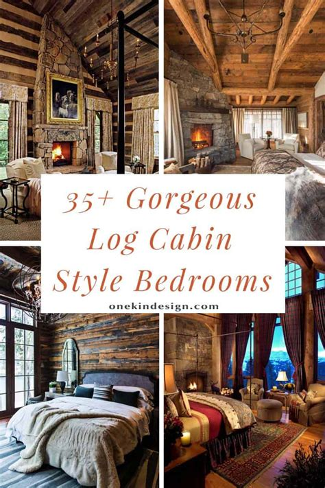 gorgeous log cabin style bedrooms    drool