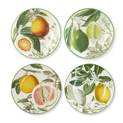 Gorgeous Botanical Plates by Summer Botanical Citrus Salad Plates From Williams