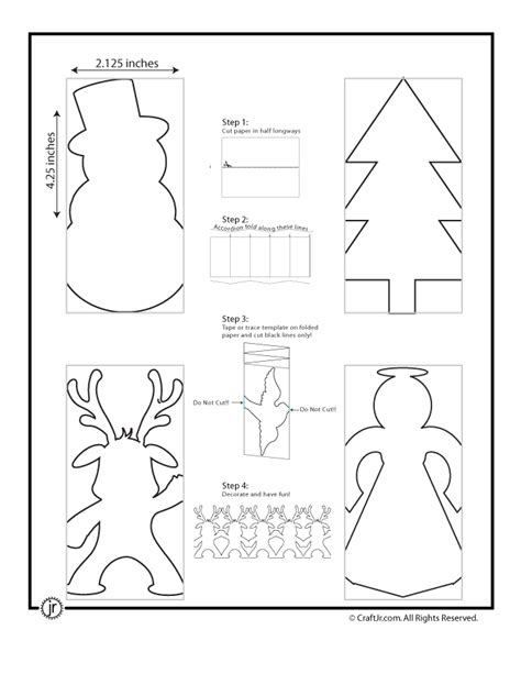 Snowman Chain Template paper chain template woo jr activities