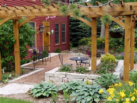 front yard patio entry pergola on salt box home