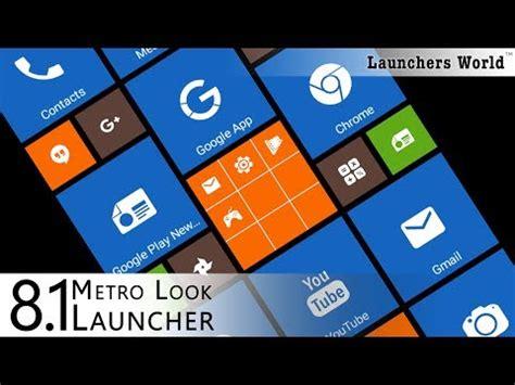 8.1 metro look launcher 2018 theme, smart, diy apps on