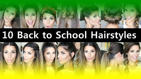 back to school teenage hairstyles top 10 back to school hairstyles for teenage girls youtube