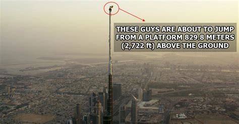 guys  base jumped    top   worlds tallest building twistedsifter