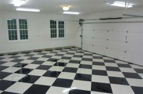 the benefits of vinyl composite tile vct garage flooring all garage floors