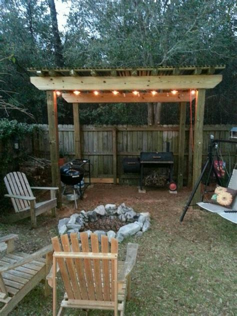 build your own backyard grill gazebo