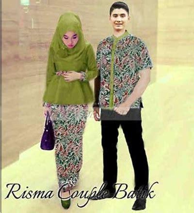 baju batik modern terbaru wanita pria couple muslim online baju couple muslim risma couple batik