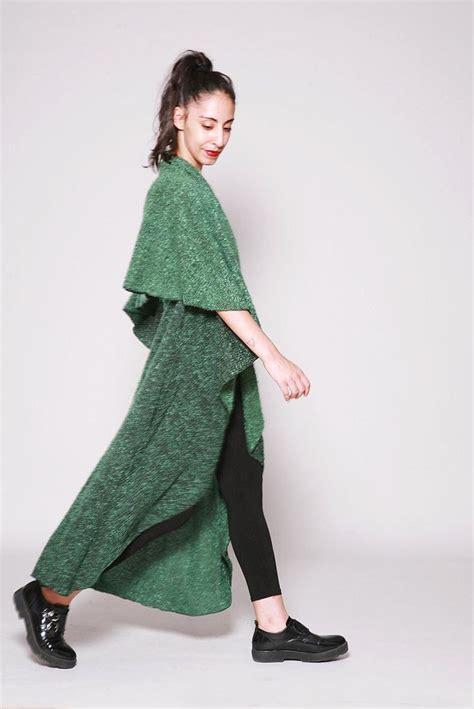 Knit Greenlight wrap cardigan green light jacket cape jacket