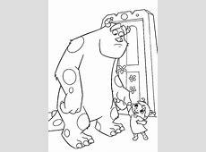 Coloring Monsters Inc Door Pages Doors